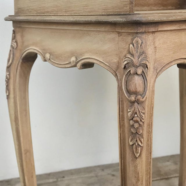 Wood Pair Country French Provincial Nightstands For Sale - Image 7 of 13