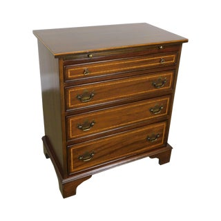 George III Style Custom Quality Banded Mahogany Bachelors Chest For Sale