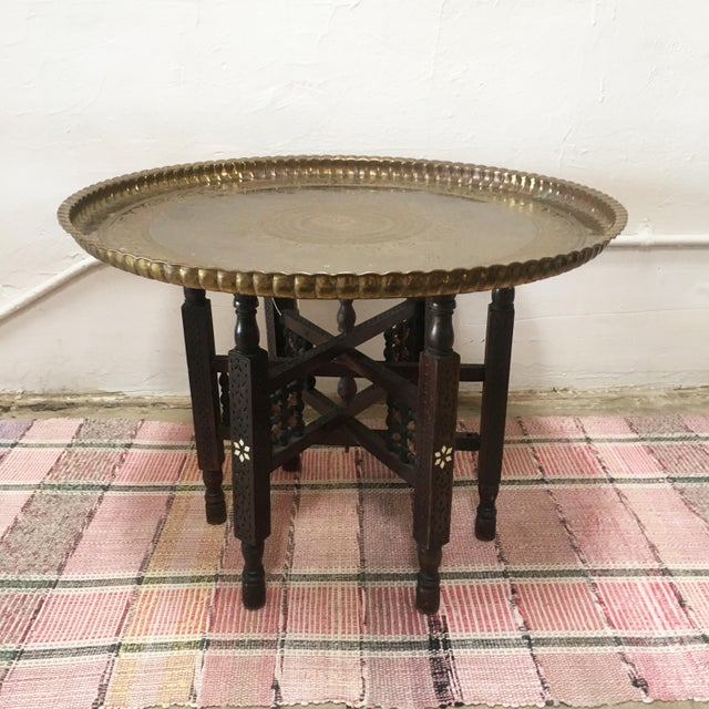 Vintage Moroccan Tray Table - Image 2 of 5