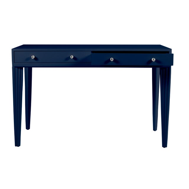 Beautifully handcrafted, this writing desk will add sophistication to any room. The Barcelona Desk features a wood frame...