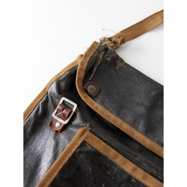 Canvas Antique American School Satchel For Sale - Image 7 of 10