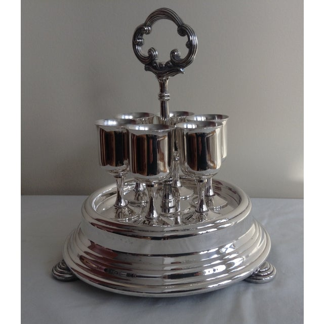 1960s Taunton Silver Cordials & Caddy Holder For Sale - Image 5 of 10