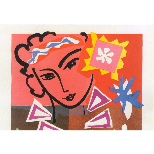 "Henri Matisse Henri Matisse Vintage 1989 Lithograph Print "" Bal Arts Decoratifs Mourlot "" 1951 For Sale - Image 4 of 10"