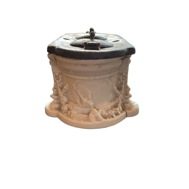 Metal Antique 18th Century Inkwell For Sale - Image 7 of 12
