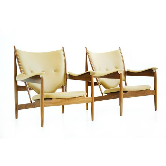 1990s Pair of Finn Juhl Chieftain Lounge Chairs For Sale - Image 5 of 10