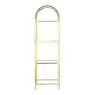 Hollywood Regency Arched Brass Etagere For Sale