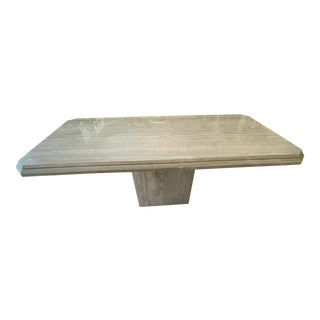 Travertine Marble Table For Sale