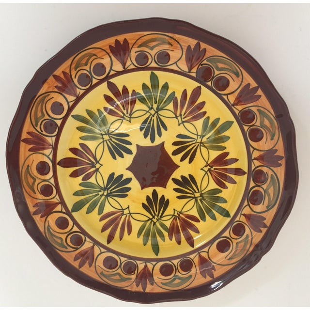 French Polychrome Hand Painted Ceramic Decorative Plate For Sale - Image 12 of 12