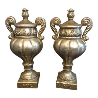 Mark Roberts Collection Pedestal Grecian Style Urns - a Pair