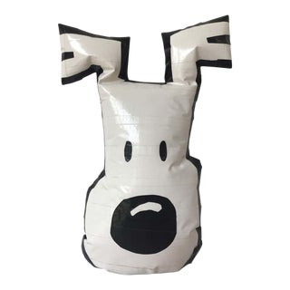 Japanese Pop Art Dog Face Made from Duct Tape For Sale