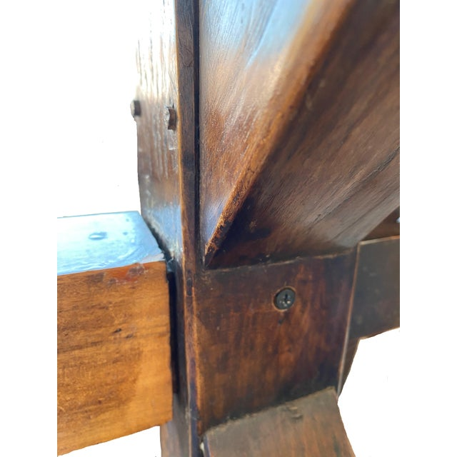 19th Century Provençal Trestle Farm Table For Sale - Image 10 of 11