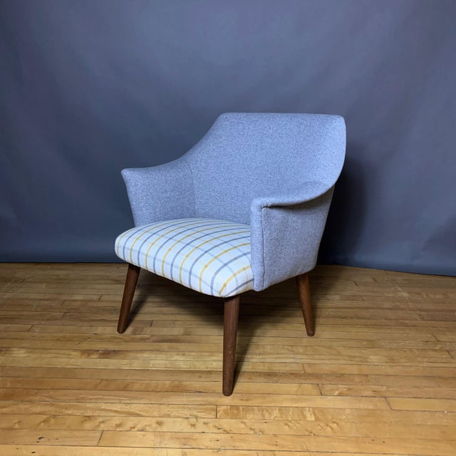 Danish 1960 Armchair, New Mood Nyc Upholstery For Sale - Image 9 of 9