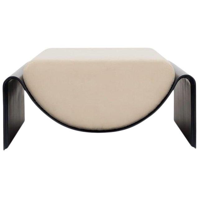Minimalist Asa Pingree Eclipse Fiberglass Upholstered Ottoman For Sale