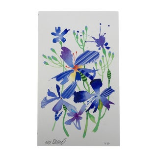 """""""Firefly Lilys 1"""" Original Watercolor Painting For Sale"""