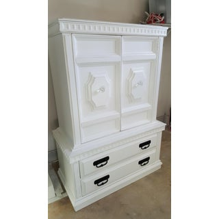 1960s Shabby Chic Style Distressed Armoire Preview