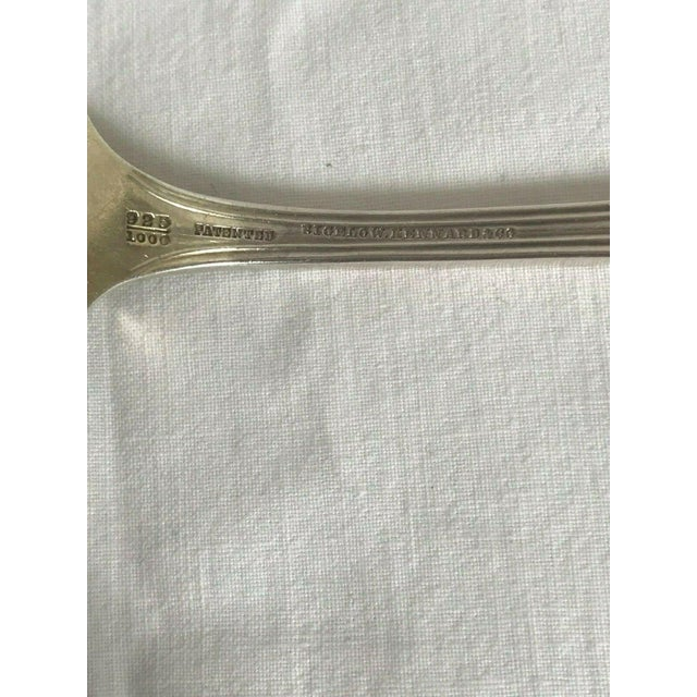 Bigelow Kennard & Co. Shell and Bead Asparagus Serving Fork For Sale - Image 4 of 5