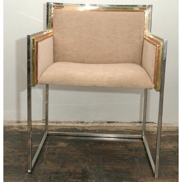 Modern Set of Four Armchairs by Alain Delon for Maison Jansen For Sale - Image 3 of 12