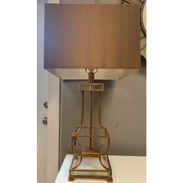 Contemporary Cyan Pinkston Table Lamp For Sale - Image 3 of 3