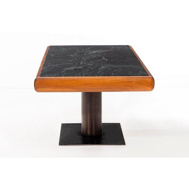 1960's Teak and Marble Executive Desk For Sale - Image 4 of 11