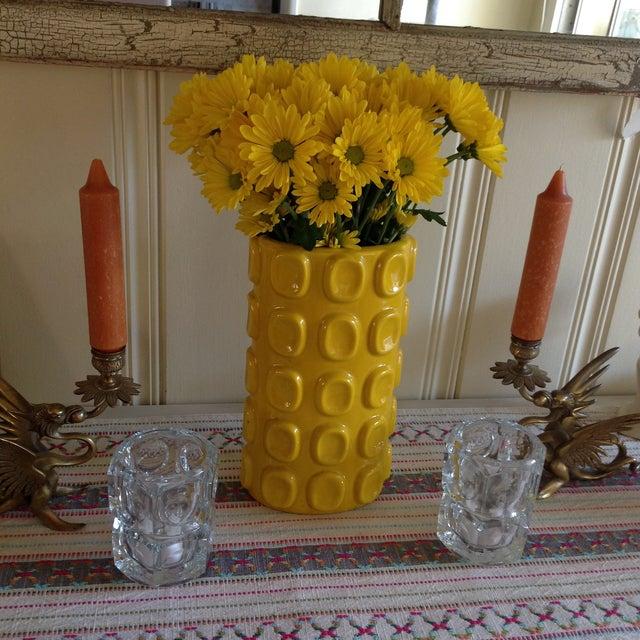 Modern Yellow Ceramic Vase - Image 8 of 10