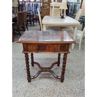 Italian Theodore Alexander Single Drawer Marquetry Table Preview
