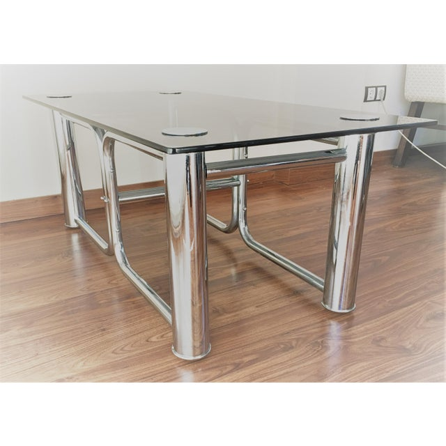 Mid-Century Modern Chrome Coffee Table - Image 9 of 11