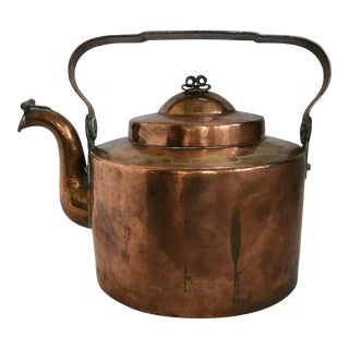 Early 20th Century Antique Copper & Brass Teapot For Sale