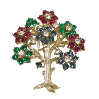 "Vintage Signed Trifari 'Tree of Life"" Brooch For Sale"