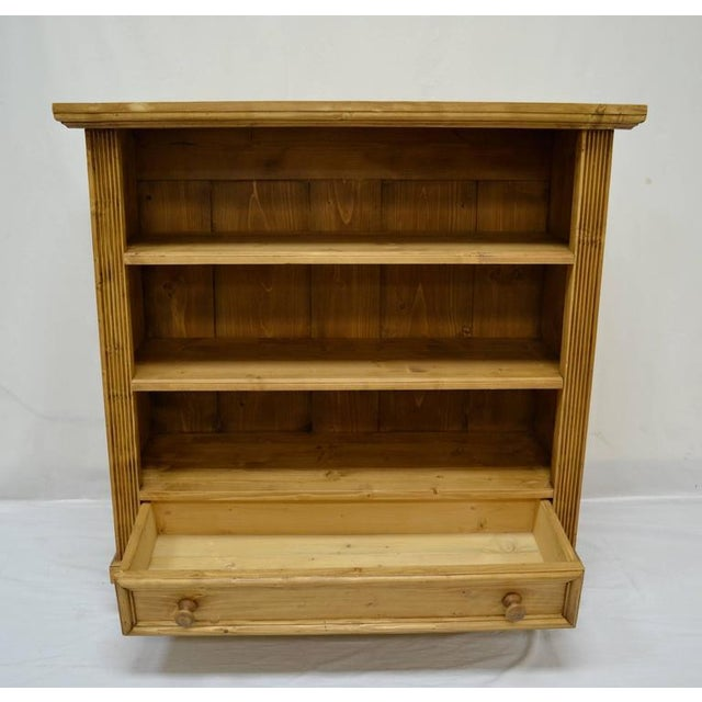2010s Antique Pine Bookcase With Drawer For Sale - Image 5 of 7