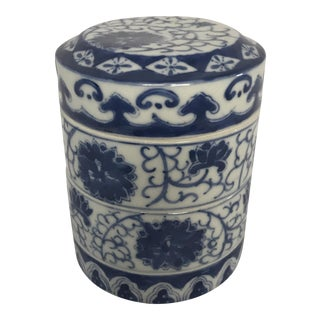 Chinese Blue & White Porcelain Stacking Bowls - Set of 4