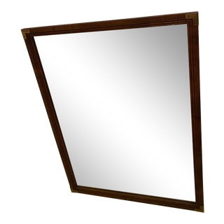 Vintage Henredon Campaign Style Mirror For Sale