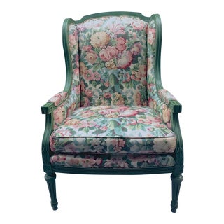 Vintage Louis XVI Wingback Chair For Sale