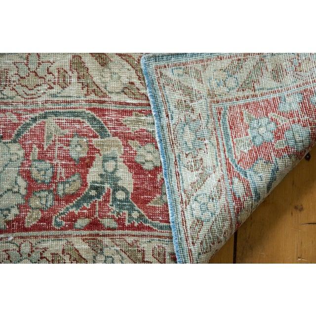 """Vintage Distressed Tabriz Carpet - 8'1"""" X 11'4"""" For Sale - Image 10 of 13"""