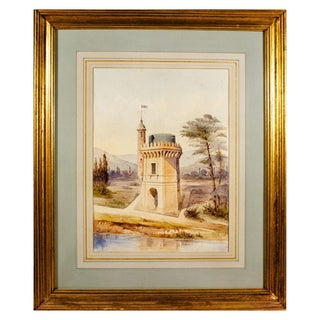 """""""Castle Folly"""" Watercolor Painting For Sale"""