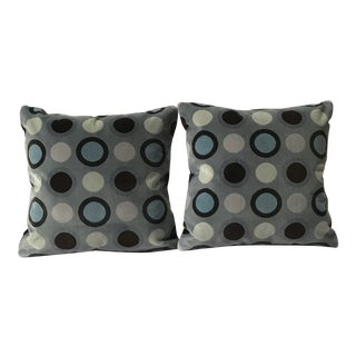 Custom Velvet Decorative Pillows - A Pair For Sale