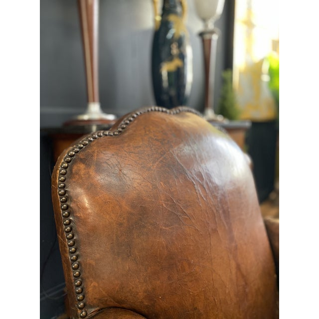 1930's Vintage Art Deco Leather Club Chairs - A Pair For Sale In New York - Image 6 of 10