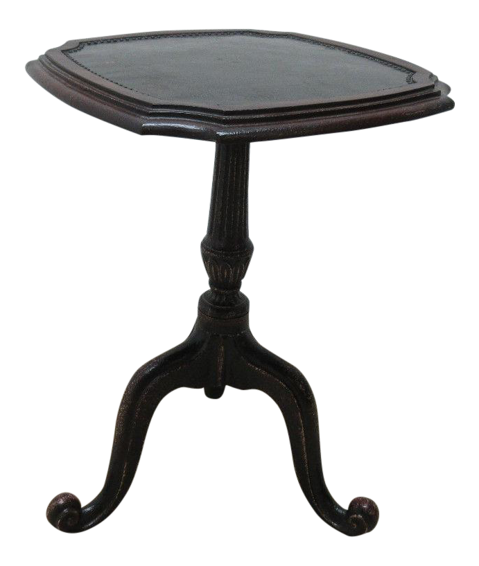Maitland Smith Cast Iron Tin Top French Regency End Table