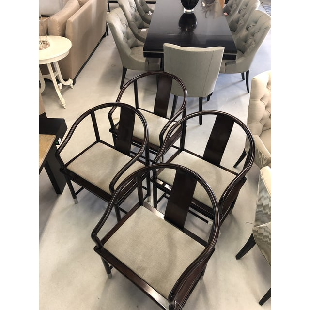1990s Brueton Ming Inspired Chairs - Set of 4 For Sale - Image 9 of 13