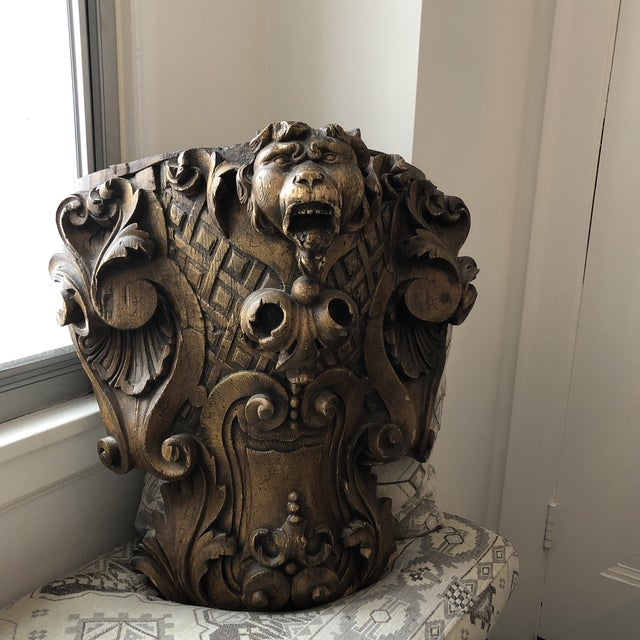Black Forest 19th Century Carved Architectural Wall Shelf For Sale - Image 3 of 10
