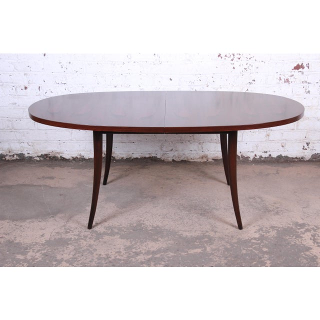 1950s Harvey Probber Mid-Century Modern Saber Leg Rosewood Extension Dining Table, Newly Refinished For Sale - Image 5 of 13
