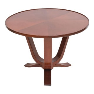 Late Art Deco Mahogany Occasional Table For Sale
