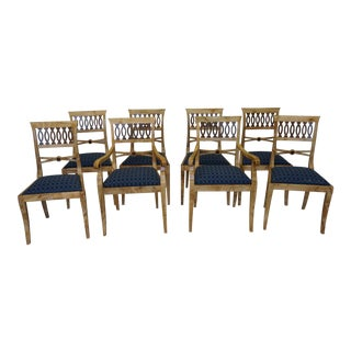 Modern Ambrosia Maple Dining Chairs - Set of 8 For Sale