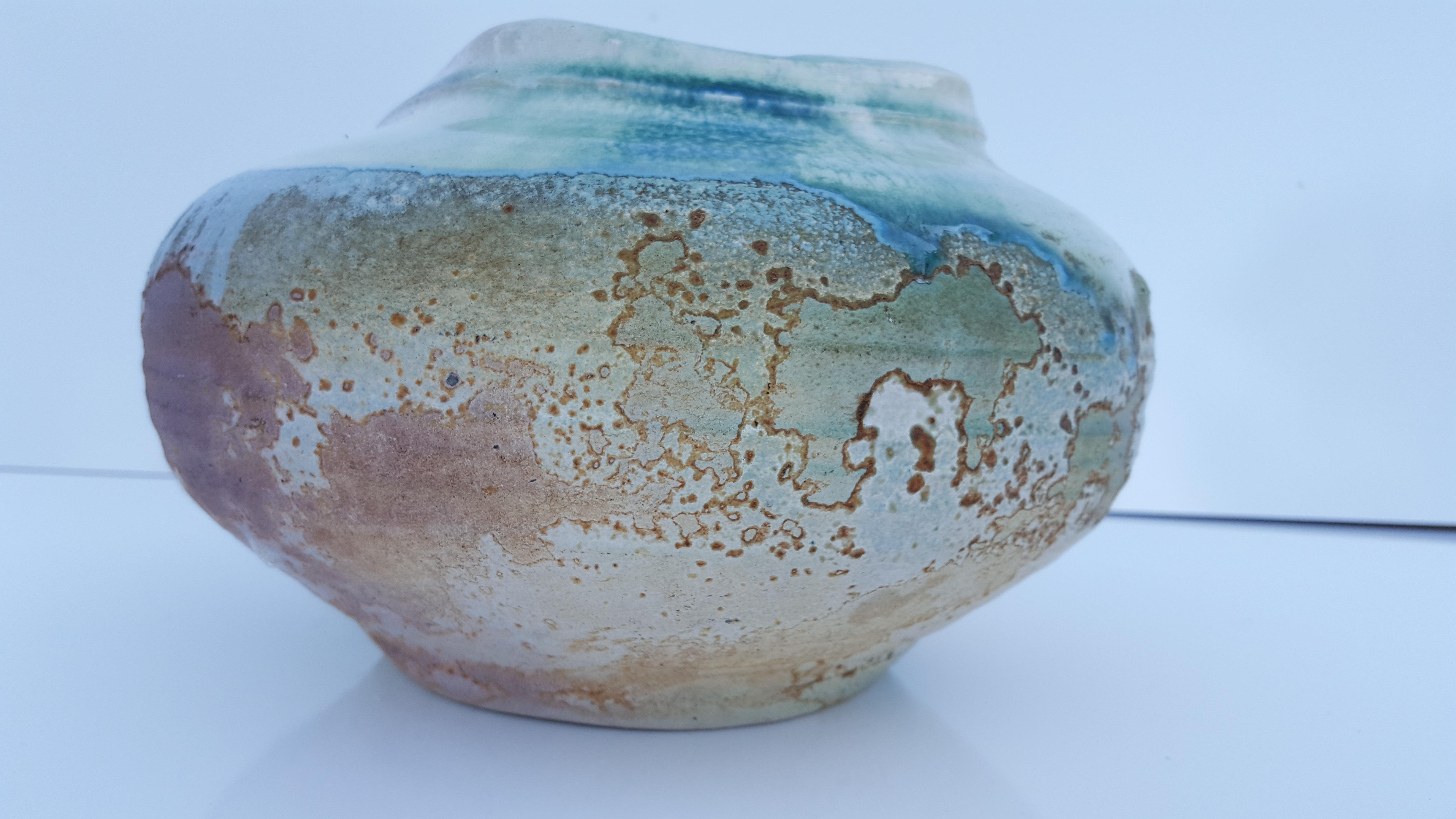 Tony Evans Raku Pottery Ceramic Bowl Raku Pottery Tony Evans Raku Pottery
