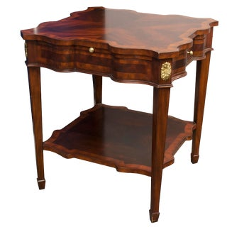 Maitland-Smith Aged Regency Serpentine End Table For Sale