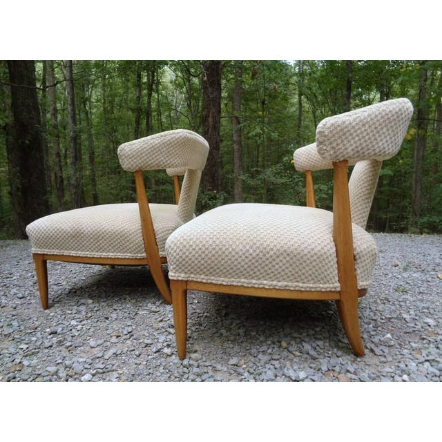 Tan Mid Century Tomlinson Sophisticate Slipper Chairs ~ a Pair For Sale - Image 8 of 13