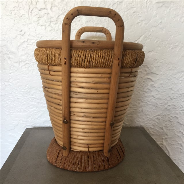 1970s Rattan Bucket - Image 8 of 9