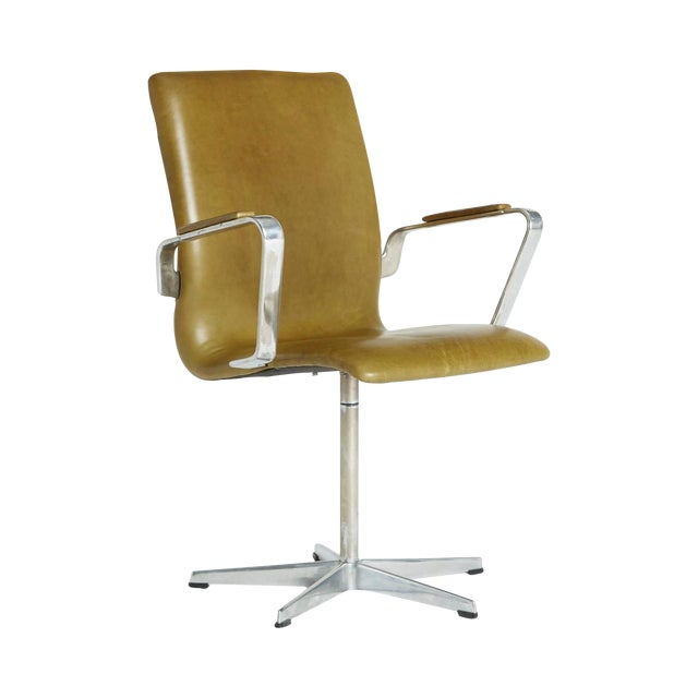 Arne Jacobsen Leather Oxford Chair - Image 1 of 11