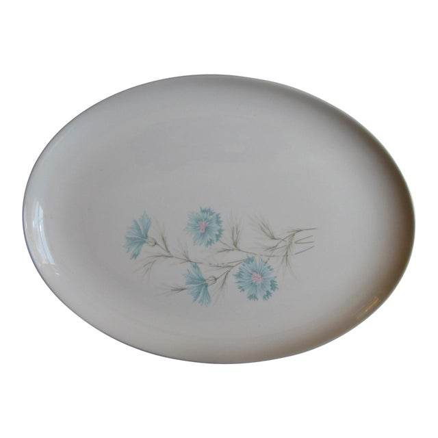 Vintage Ever Yours Boutonniere Oval Large Serving Platter by Taylor, Smith and Taylor For Sale