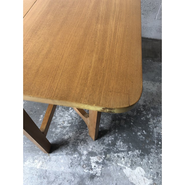 Vintage Mid Century Modern Expanding Dining Table by Edward Wormley for Drexel Furniture For Sale In Miami - Image 6 of 13