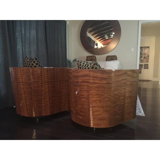 Pace Collection Swivel Tub Chairs - A Pair - Image 4 of 7